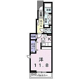 JR中央本線 神領駅 徒歩18分の賃貸アパート 1階1Kの間取り