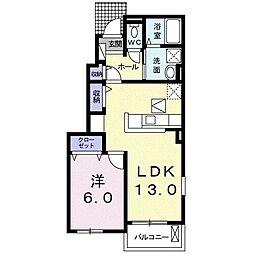 JR御殿場線 御殿場駅 バス22分 須走中下車 徒歩4分の賃貸アパート 1階1LDKの間取り