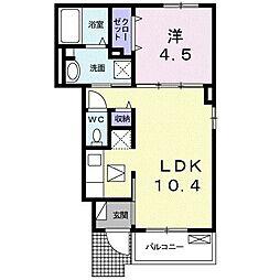 JR東海道本線 清水駅 バス22分 中央共選場前下車 4.8kmの賃貸アパート 1階1LDKの間取り
