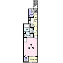 名鉄名古屋本線 本星崎駅 徒歩8分の賃貸アパート 1階1Kの間取り
