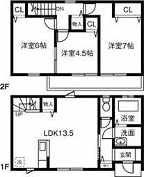 (仮)愛知県西尾市一色町MP 1階3LDKの間取り