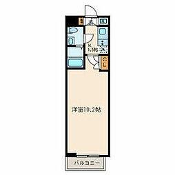 西武新宿線 武蔵関駅 徒歩8分の賃貸マンション 3階1Kの間取り