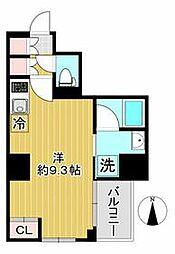 AZEST川崎大師II 9階ワンルームの間取り
