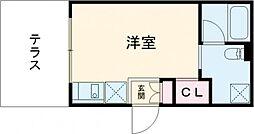 東急田園都市線 桜新町駅 徒歩8分の賃貸マンション 1階1Kの間取り