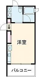 東急田園都市線 桜新町駅 徒歩8分の賃貸マンション 2階1Kの間取り