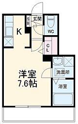 JR総武線 本八幡駅 徒歩10分の賃貸マンション 1階ワンルームの間取り