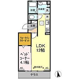 伊豆箱根鉄道駿豆線 三島二日町駅 徒歩11分の賃貸アパート 2階1LDKの間取り
