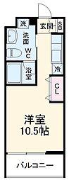 COZY有松 3階ワンルームの間取り