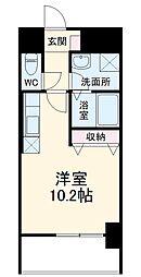 名古屋市営桜通線 野並駅 徒歩2分の賃貸マンション 7階ワンルームの間取り
