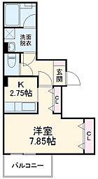 JR京浜東北・根岸線 大宮駅 徒歩22分の賃貸マンション 4階1Kの間取り