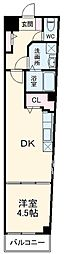 Arcenciel幕張 4階1DKの間取り