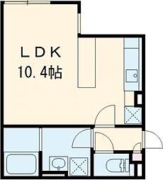 ALERO Koenji 2階1Kの間取り