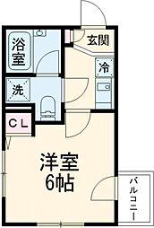 JR中央線 高円寺駅 徒歩5分の賃貸マンション 3階1Kの間取り