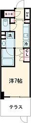 京急空港線 大鳥居駅 徒歩4分の賃貸マンション 1階1Kの間取り