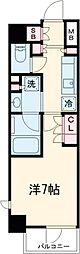 京急空港線 大鳥居駅 徒歩4分の賃貸マンション 5階1Kの間取り