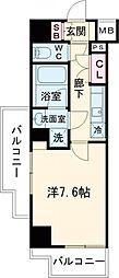 都営三田線 西台駅 徒歩12分の賃貸マンション 7階1Kの間取り