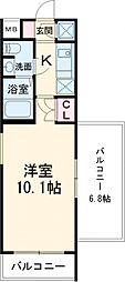 BeverlyHomes赤塚公園II 4階1Kの間取り