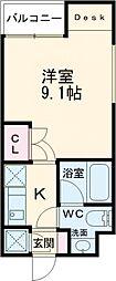 BeverlyHomes赤塚公園II 3階1Kの間取り