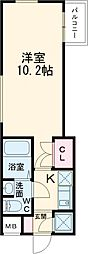 BeverlyHomes赤塚公園II 5階1Kの間取り