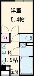 東京メトロ有楽町線 地下鉄赤塚駅 徒歩12分の賃貸マンション 3階1Kの間取り