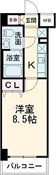 東京メトロ有楽町線 東池袋駅 徒歩4分の賃貸マンション 6階1Kの間取り