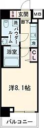 パティーナ東武練馬 1階1Kの間取り