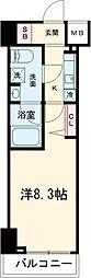 パティーナ東武練馬 6階1Kの間取り