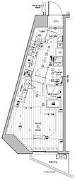 JR山手線 池袋駅 徒歩13分の賃貸マンション 8階ワンルームの間取り