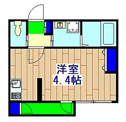 (仮称)市川福栄2丁目アパート 3階1Kの間取り