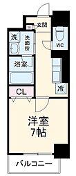 名古屋市営鶴舞線 浄心駅 徒歩12分の賃貸マンション 9階1Kの間取り