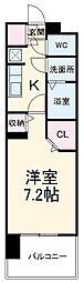 名古屋市営名城線 黒川駅 徒歩4分の賃貸マンション 12階1Kの間取り