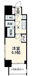 名鉄名古屋本線 山王駅 徒歩9分の賃貸マンション 8階1Kの間取り