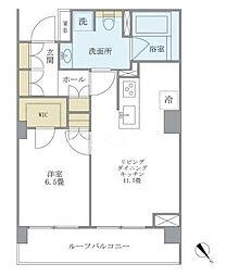 東京メトロ千代田線 代々木上原駅 徒歩14分の賃貸マンション 4階1LDKの間取り