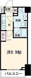 プレール・ドゥーク練馬中村橋 2階1Kの間取り