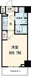 プレール・ドゥーク練馬中村橋 4階1Kの間取り
