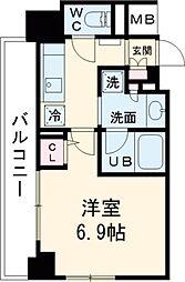 西武新宿線 鷺ノ宮駅 徒歩3分の賃貸マンション 5階1Kの間取り