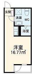 JR南武線 宿河原駅 徒歩10分の賃貸アパート 3階ワンルームの間取り
