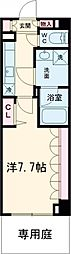 東京メトロ千代田線 北千住駅 徒歩12分の賃貸マンション 1階1Kの間取り
