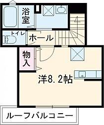 仮)ベルフォーレ小金井公園 3階ワンルームの間取り