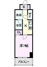 仮)道下町4丁目プロジェクト 9階1Kの間取り