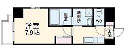 名古屋市営名港線 六番町駅 徒歩10分の賃貸マンション 6階1Kの間取り