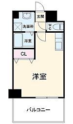 JR鹿児島本線 竹下駅 徒歩13分の賃貸マンション 7階1Kの間取り