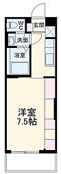 JR鹿児島本線 吉塚駅 徒歩8分の賃貸マンション 3階1Kの間取り