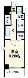 ガイドウェイバス志段味線 大曽根駅 徒歩17分の賃貸マンション 8階1Kの間取り