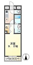 JR総武本線 都賀駅 徒歩8分の賃貸マンション 1階1Kの間取り