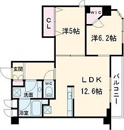 クレストコート志村坂上 3階2LDKの間取り