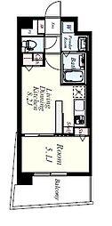 JR香椎線 宇美駅 徒歩35分の賃貸マンション 6階1LDKの間取り