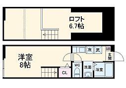 京急逗子線 新逗子駅 徒歩5分の賃貸アパート 2階1Kの間取り