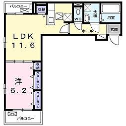 Luminous(ルミナス)I 3階1LDKの間取り
