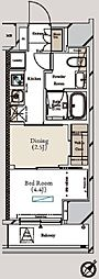 ミュプレ月島 3階1DKの間取り